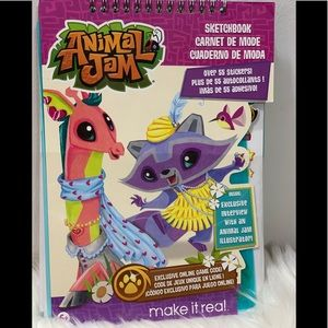 Animal Jam Sketchbook With Online Game Code
